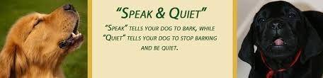 speak - be quiet