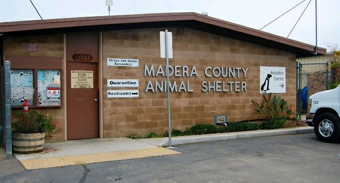 Front view of the Madera County Animal Shelter
