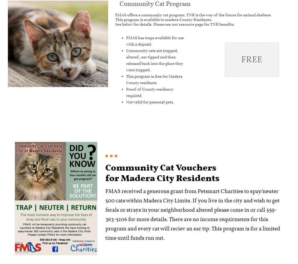 Spay & Neuter Programs | Madera County
