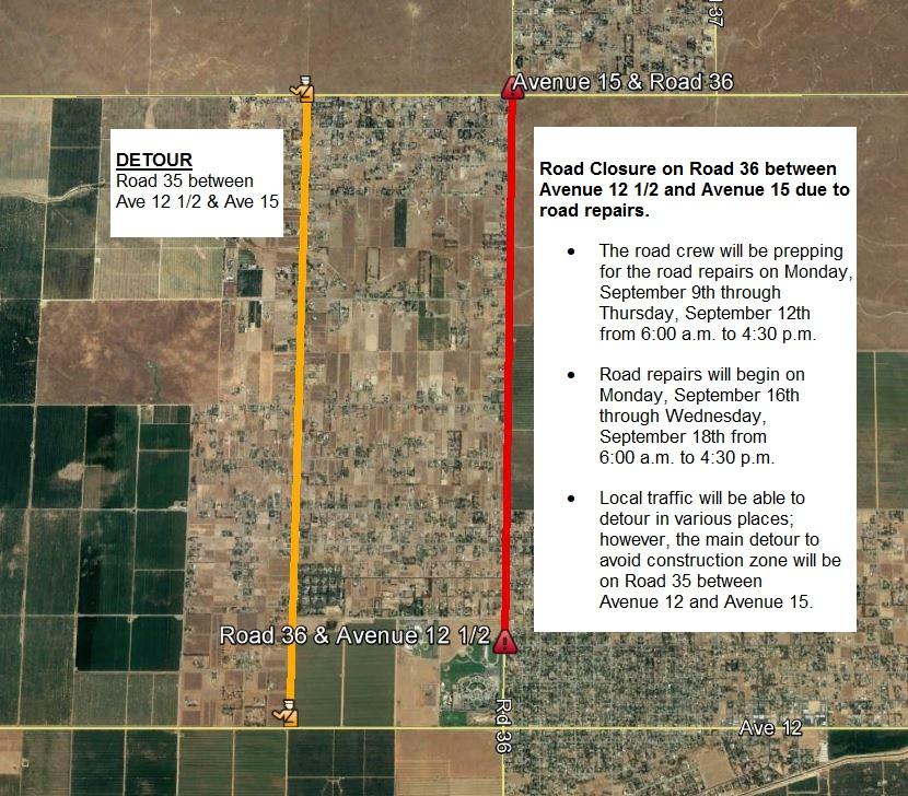 Commuter Alerts/Road Closures | Madera County