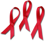 Aids red ribbons
