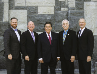 Board Of Supervisors in front of a fountain