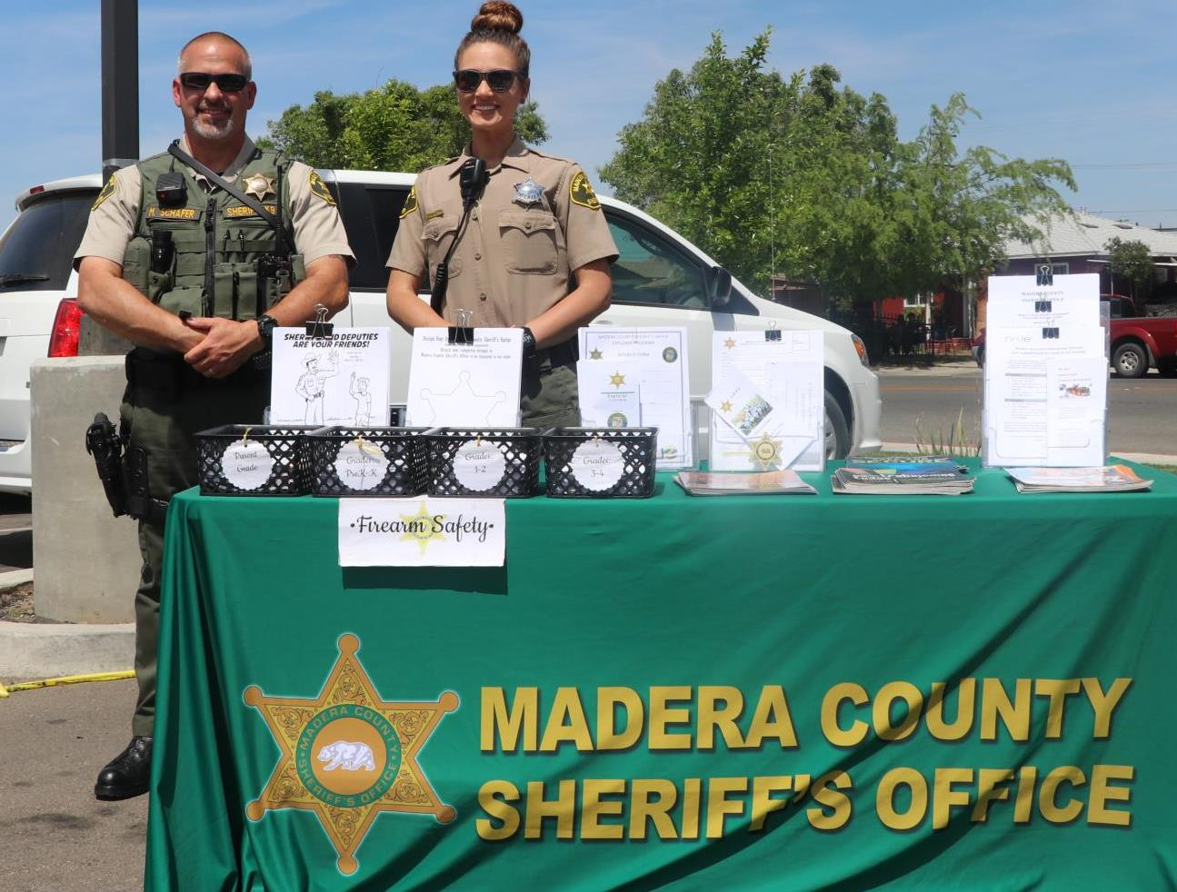 Madera County Sherriff was one of several agencies and vendors at Fruit and Veggie Fest 2018