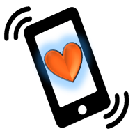 Cell Phone drawing with Heart040720